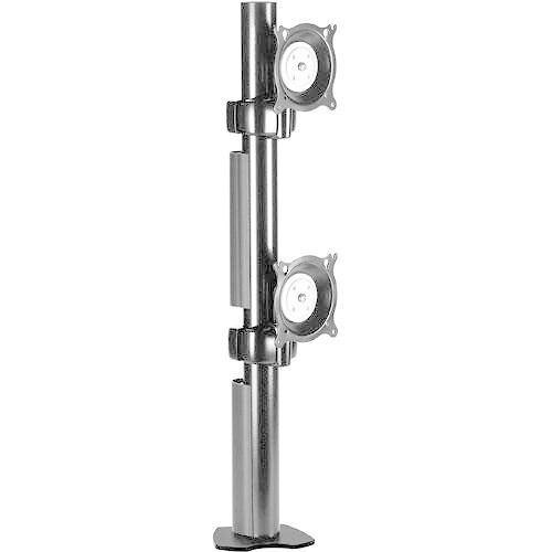 Chief KTC230S Dual Desk Clamp Flat Panel Mount (Silver)