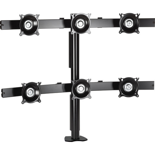 Chief Flat Panel Six Monitor Desk Clamp Mount (Black)