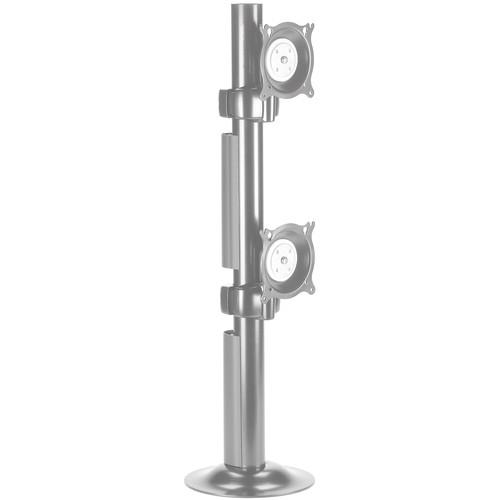 Chief KTG230S Dual Vertical Monitor Grommet Mount (Silver)