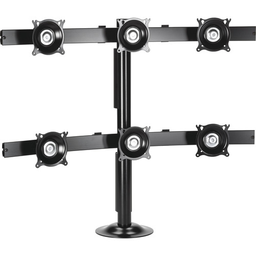 Chief KTG330B Six Monitor Grommet Mount (Black)