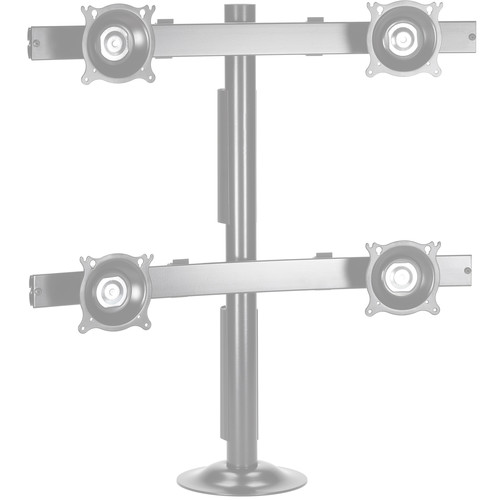 Chief KTG440S Quad Monitor Grommet Mount (Silver)