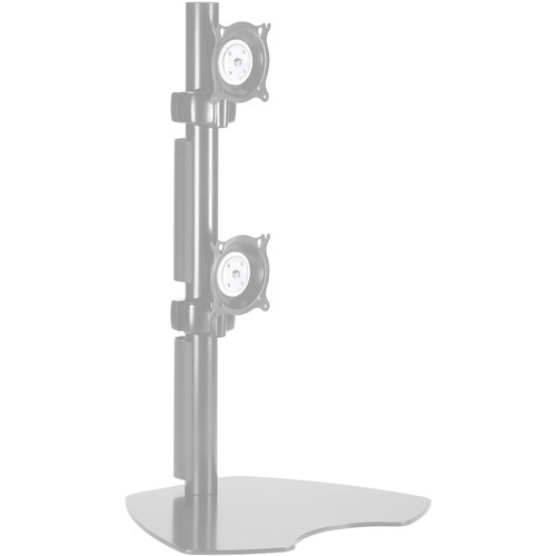 Chief KTP230S  Dual Vertical Monitor Table Stand (Silver)