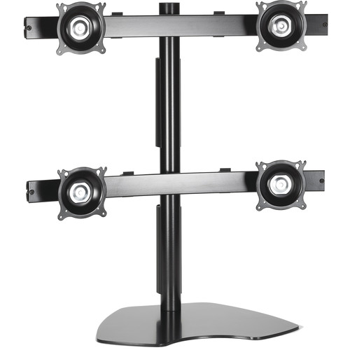 Chief KTP445B Widescreen Quad Monitor Table Stand (Black)