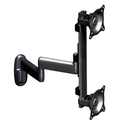 Chief KWD-230B  Dual Vertical Monitor Swing Arm Wall Mount (Black)