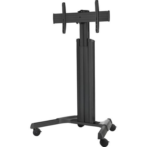 Chief LPAU Large FUSION Manual Height Adjustable Mobile Cart (Black)