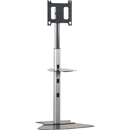 "Chief MF1-US  Flat Panel Floor Stand for Displays up to 50"" (Silver)"