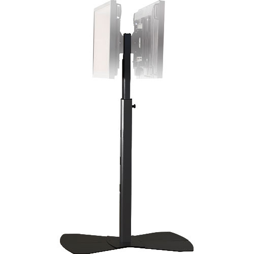 "Chief MF2-6000B  Flat Panel Floor Stand for Dual Displays up to 50"" (Black)"