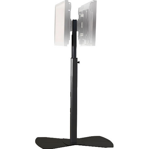 "Chief MF2-UB  Flat Panel Floor Stand for Dual Displays up to 50"" (Black)"