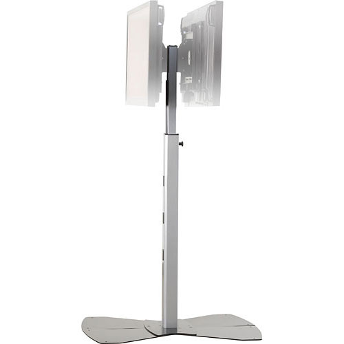 "Chief MF2-US  Flat Panel Floor Stand for Dual Displays up to 50"" (Silver)"