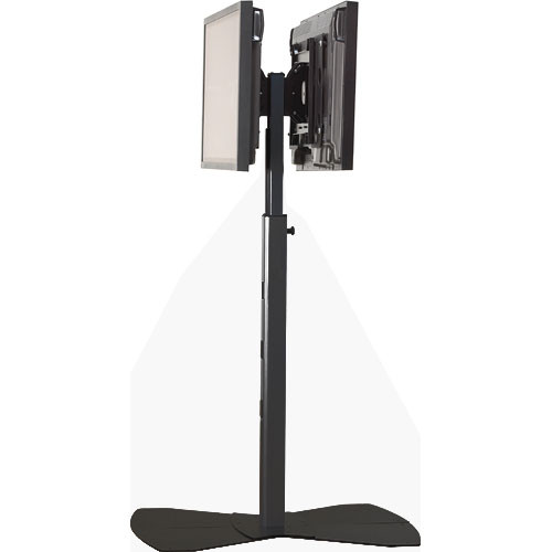 Chief PF2-2000B  Flat Panel Dual Display Floor Stand (Black)