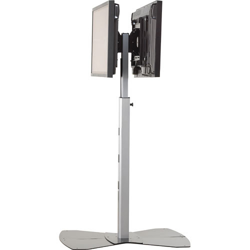 Chief PF2-2000S  Flat Panel Dual Display Floor Stand (Silver)