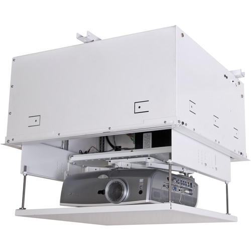 Theater Room With Hidden Projector: Chief SL151 Smart-Lift Automated Projector Mount (White) SL151