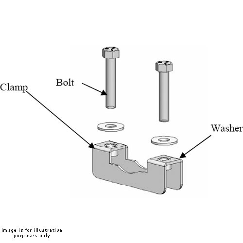 """Chief Truss Clamp Kit TPK-4 (4 Clamps for 1-2"""" OD Round or Square Truss)"""