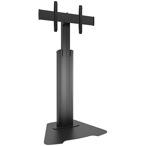 Chief Large FUSION Manual Height-Adjustable Floor Stand (Black)
