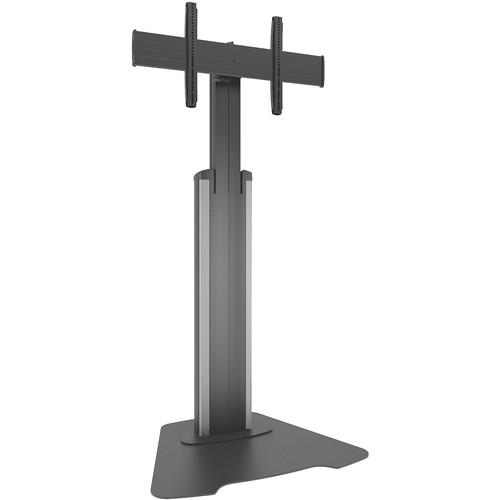 Chief Large FUSION Manual Height-Adjustable Floor Stand (Silver)