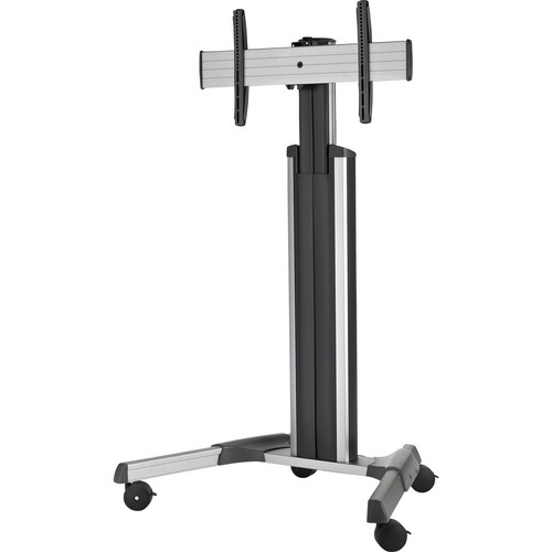 Chief LPAU Large FUSION Manual Height Adjustable Mobile Cart (Silver)