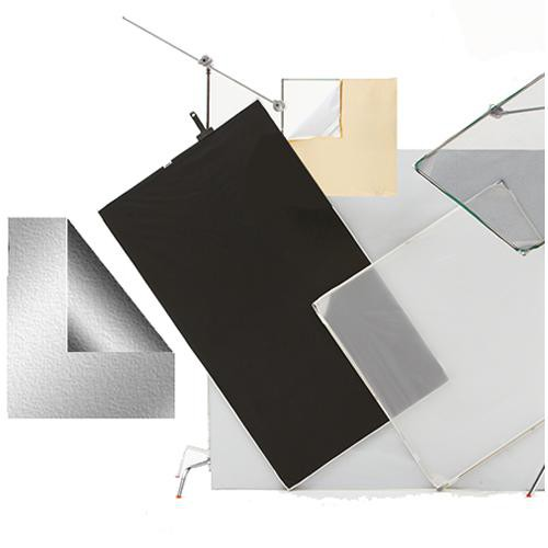 """Chimera Panel Fabric ONLY for Aluminum Frame, Silver/Black - 42x42"""" (1x1m)"""
