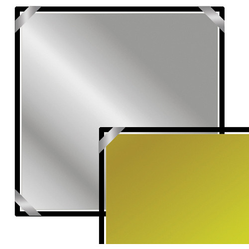"Chimera 24 x 24"" Reflector Fabric, Silver-Gold Zebra/Soft White"