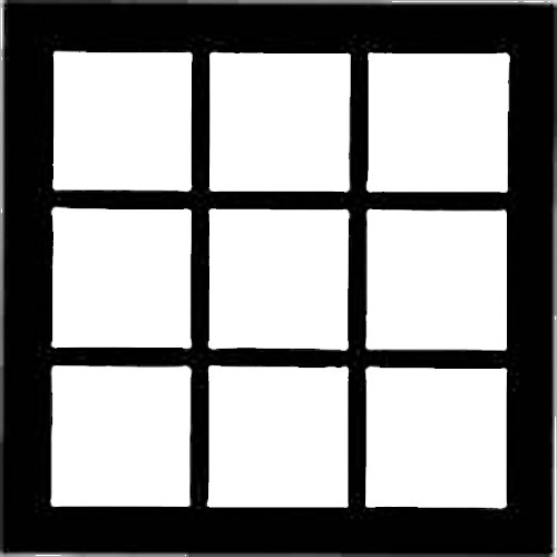"Chimera Window Pattern for 42x42"" Frame"