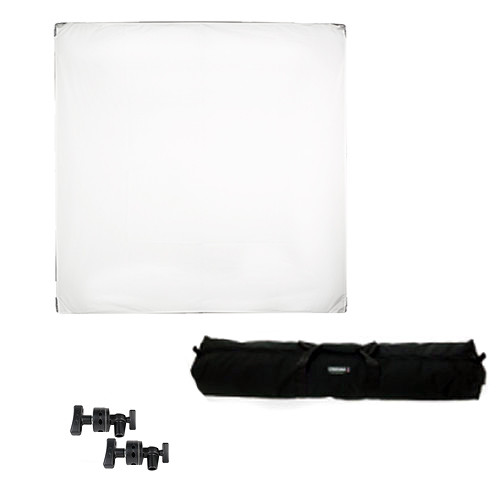"""Chimera Cameo Fabric Kit - includes: 42x42"""" Aluminum Frame, White, Black, Gold, Silver, Diffusion Panels, Grip Heads, Duffle Case"""