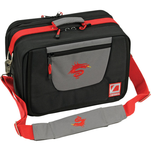 CineBags CB-10 LEV2 Cinematographer Bag (Limited Red Dragon Edition, Black and Gray with Red Webbing)