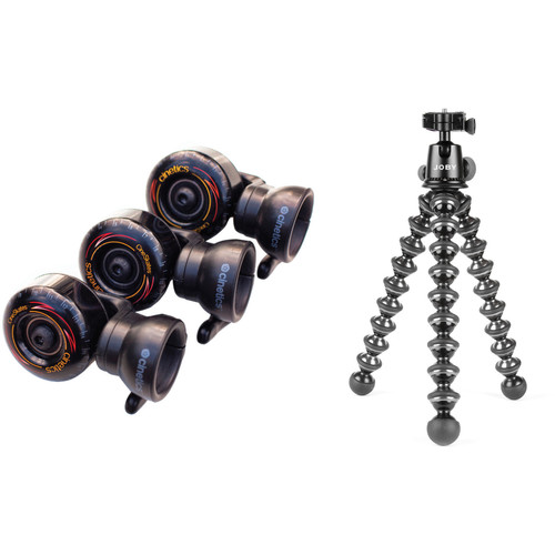 Cinetics CineSkates Camera Dolly Wheels, GorillaPod Focus Tripod/Ballhead X