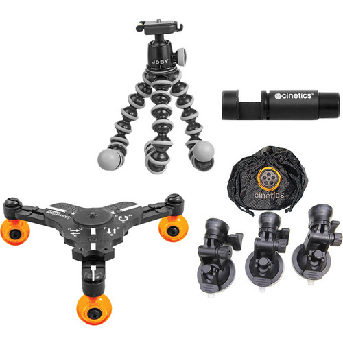 Cinetics Gorillapod Mini Tripod, Head, Suction Cup Mount, miniSkates Pro Kit