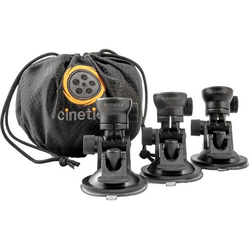 Cinetics miniSquid Suction Cup Camera Mount, GorillaPod SLR-Zoom Tripod, Ballhead