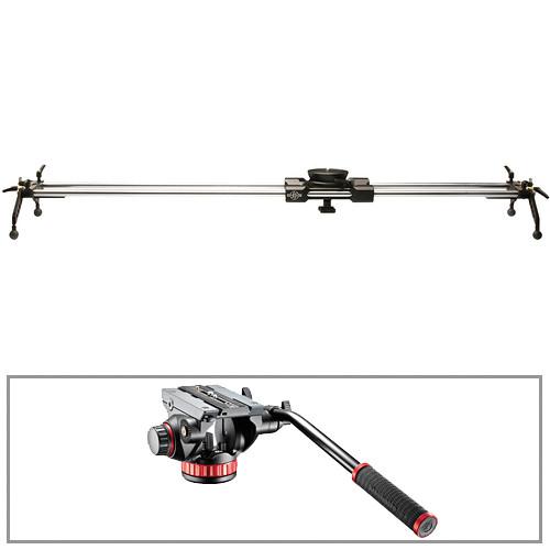 "Cinevate Inc 58"" Atlas 30 Slider with All-Terrain Legs & 502AH Video Head Kit"