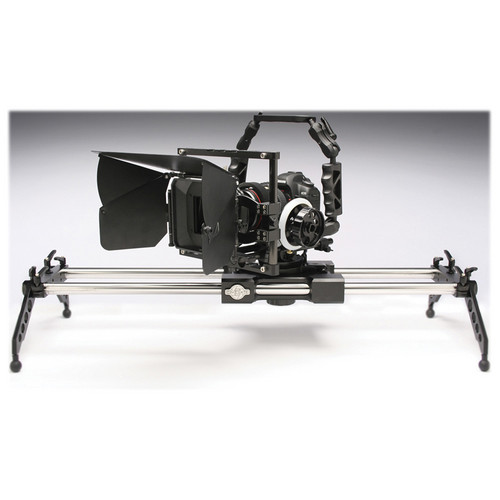"Cinevate Inc 60"" Atlas 200 Slider & Manfrotto 502HD Head w/ Flat Base Kit"