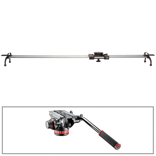 """Cinevate Inc Atlas 30 58"""" Rail Kit with Regular Legs and Manfrotto 502 Head"""