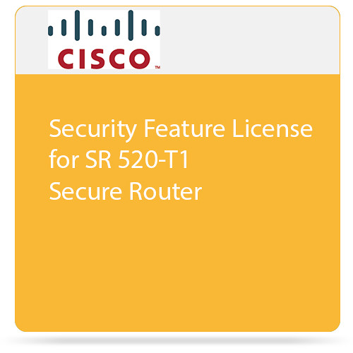 Cisco Security Feature License for SR 520-T1 Secure Router