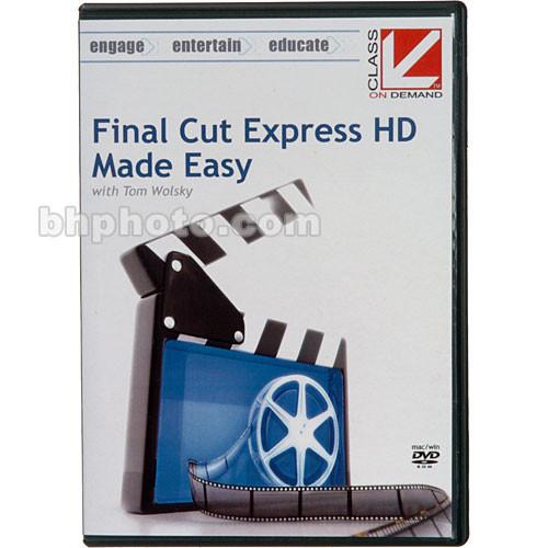 Class on Demand Training DVD: Final Cut Express HD Made Easy Training DVD-ROM