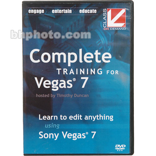 Class on Demand Complete Training for Sony Vegas 7 Training DVD