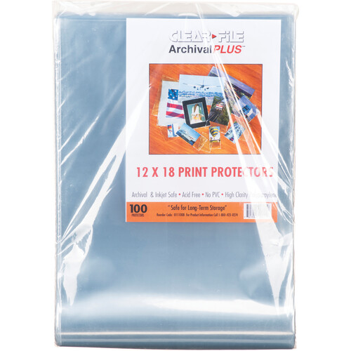 """ClearFile Print Protector (12 x 18"""", 100-Pack)"""