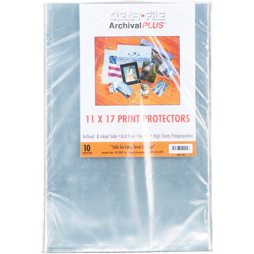 """ClearFile Print Protector (11 x 17"""", 10-Pack)"""