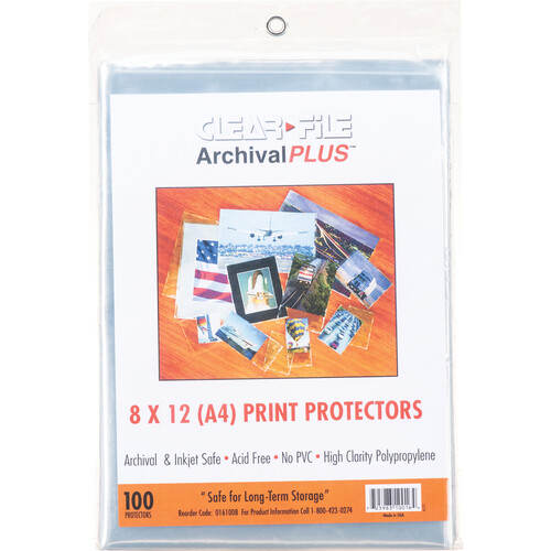 """ClearFile 8 x 12"""" Print Protector (100-Pack)"""
