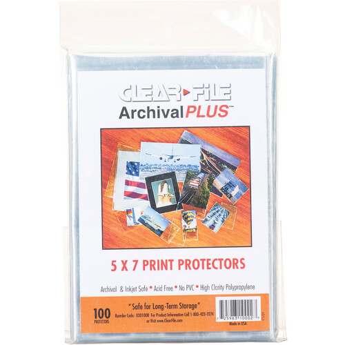 """ClearFile 5 x 7"""" Print Protector (100-Pack)"""