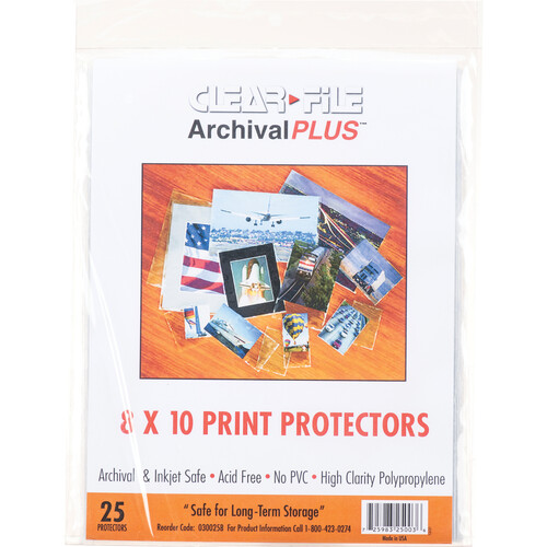 "ClearFile 8 x 10"" Print Protector (25-Pack)"