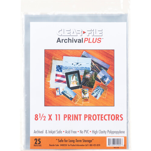 """ClearFile Print Protector (8.5 x 11"""", 25-Pack)"""