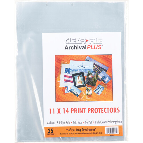 "ClearFile Print Protector (11 x 14"", 25-Pack)"