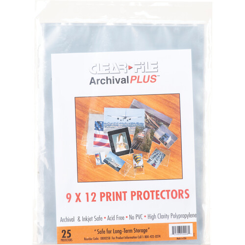 "ClearFile 08B-Print Protector (9 x 12"", 25-Pack)"