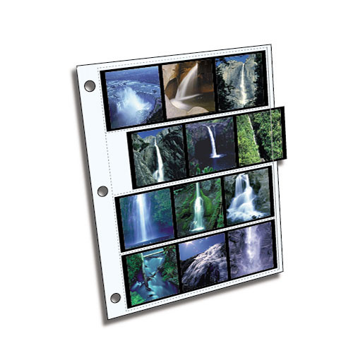 ClearFile Archival Plus Negative Page, 6x6cm (120), 4-Strips of 3-Frames (Horizontal) - 25 Pack
