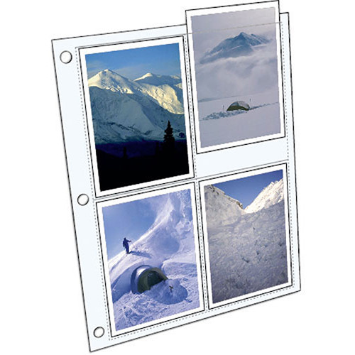 """ClearFile Archival Elite HW Print Page - Holds 8 4x5"""" Photos - 10"""