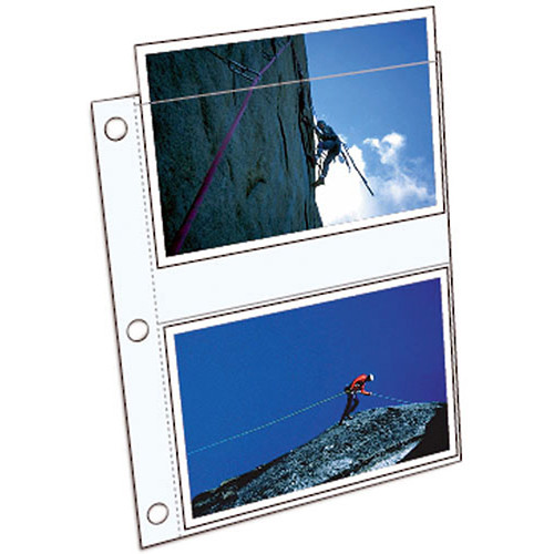 """ClearFile Archival Elite HW Print Page - Holds Four 5 x 7"""" Prints - Clear - 10 Pack"""
