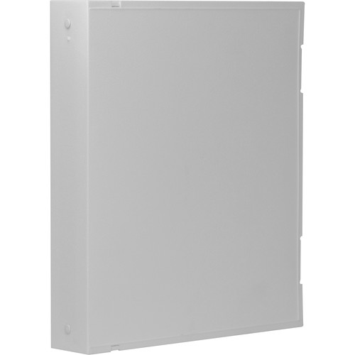 """ClearFile Safety Binder with 1"""" O-Rings (White)"""