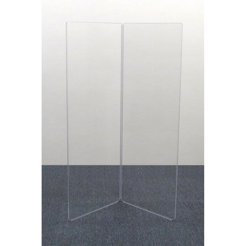 ClearSonic AR5-2 - 5.5' High, 4' Wide (Double Section) Add-On Clear Acrylic Panels with Hinge - Scratch Resistant