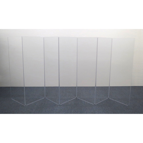ClearSonic AR5-7 - 5.5' High, 14' Wide (Seven Section) Hinged Clear Acrylic Panel System - Scratch Resistant