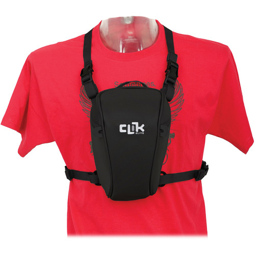 """Clik Elite Standard SLR Chest Carrier (5.9 x 5.1 x 1.5"""", Black)"""
