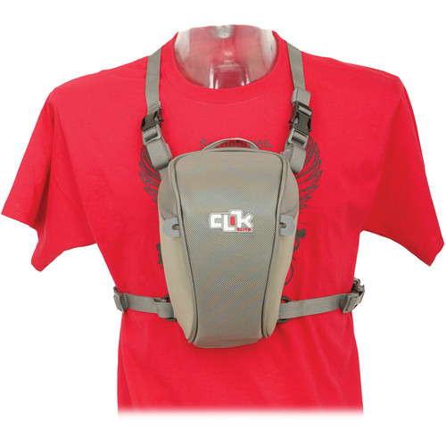 """Clik Elite Standard SLR Chest Carrier (5.9 x 5.1 x 1.5"""", Gray)"""